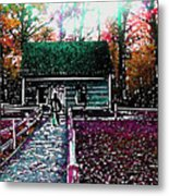 Old Mission Point Cabin Metal Print
