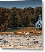 Old Mission Point Light House 01 Metal Print