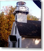 Old Mission Point Light House Metal Print