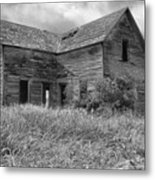 Old Montana Farmhouse Metal Print