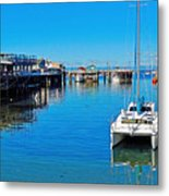Old Monterey Wharf Metal Print