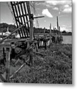 Old Moorings Metal Print