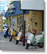 Old Motorcycles Metal Print