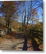 Old Mountain Road Metal Print