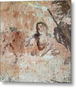 Old Mural Painting In The Ruins Of The Church Metal Print