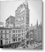 Old Nyc New Amsterdam Theater Photograph - 1905 Metal Print