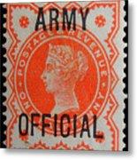 Old Orange Halfpenny Stamp  Metal Print