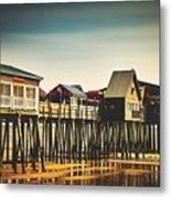 Old Orchard Beach Pier Metal Print