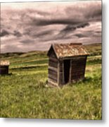 Old Outhouses Metal Print
