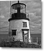 Old Owls Head Lighthouse Metal Print