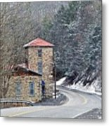 Old Paint Mill Winter Time Metal Print