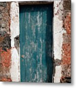 Old Painted Door Metal Print