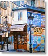 Old Paris Cafe Metal Print