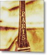 Old Paris Decor Metal Print