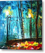 Old Park 2 - Palette Knife Oil Painting On Canvas By Leonid Afremov Metal Print