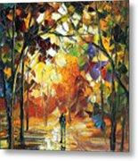 Old Park 3 - Palette Knife Oil Painting On Canvas By Leonid Afremov Metal Print