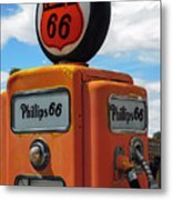 Old Phillips 66 Gas Pump Metal Print