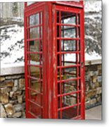 Old Phone Booth Metal Print