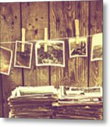 Old Photo Archive Metal Print