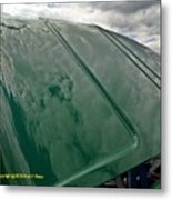 Old Pickup Truck Hood Metal Print