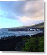 Old Pier At Honuapo Bay Metal Print