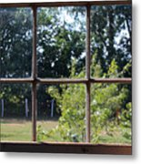 Old Pitted Glass Window Metal Print