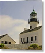 Old Point Loma Lighthouse - Cabrillo National Monument San Diego Ca Metal Print
