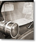Old Police Car Siren Metal Print