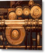 Old Printing Press Metal Print