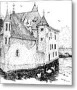 Old Prison Of Annecy France Metal Print