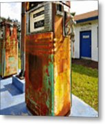 Old Pumps At Pinecrest Metal Print