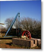 Old Quarry Machinery Winter Day Tegg's Nose Country Park Macclesfield Cheshire England Metal Print