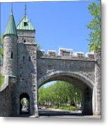 Old Quebec City Wall Quebec City 6358 Metal Print