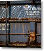 Old Railroad Boxcar  Metal Print