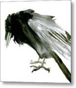 Old Raven Metal Print