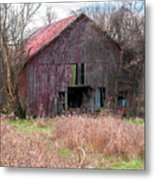 Old Red Barn Metal Print