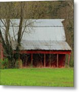 Old Red Barn In Jefferson County Metal Print