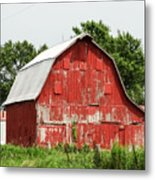 Old Red Barn Johnson County Ia Metal Print