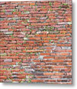 Old Red Brick Wall Metal Print