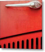 Old Red Car Metal Print
