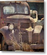 Old Red Dodge Truck Metal Print