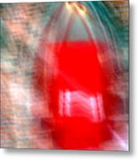 Old Red Door Abstract Metal Print