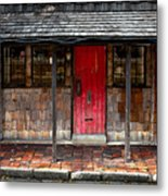 Old Red Door Metal Print
