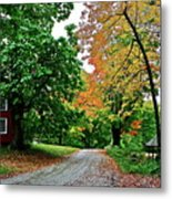 Old Red House Metal Print