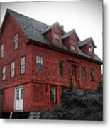 Old Red House In Shelburne Falls Metal Print