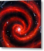 Old Red Spiral Galaxy Metal Print