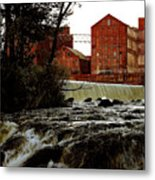 Old River Dam In Columbus Georgia Metal Print