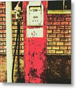 Old Roadhouse Gas Station Metal Print