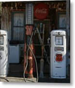 Old Route 66 Gas Station Metal Print