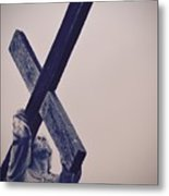 Old Rugged Cross Metal Print